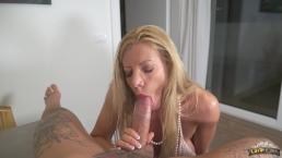 """Lara De Santis - bolwjob and drink sperm from a glass - """"cum cocktail"""""""