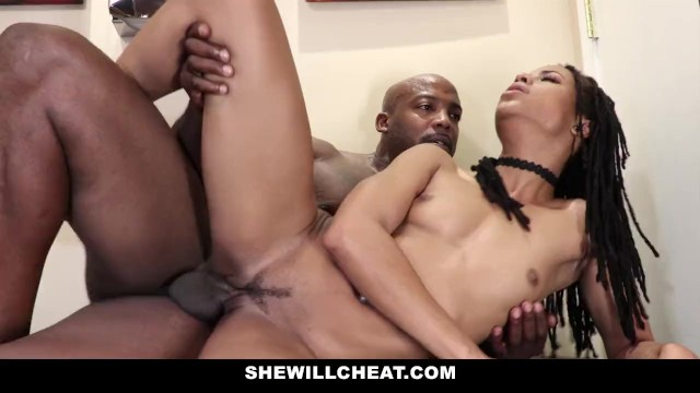 SheWillCheat – Cheating Wife Fucks BBC in Bathroom