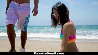 ExxxtraSmall - Cutie Fucked in Rainbow Swimsuit porno