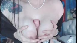 Titty fuck and dildo ride