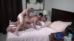 Daddy Has His Way With Two Hot Boys - Bareback Fucking Party
