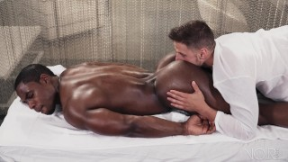 NoirMale FULL SCENE Sexy Fucking Massage 4 Hunk Black Daddy Missionary pov