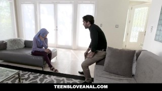 TeensLoveAnal - Teen in Hijab Gets Analed Tits fan