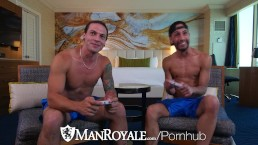 ManRoyale Video game addicts take a break to fuck