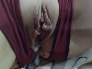 A morning mutual Masturbation cumshot in her pussy Creampie