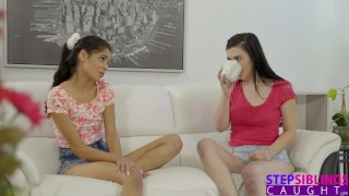 Hippy Step Sister And Cute Friend Need Cum For Tea S6:E9  step siblings jenna reid katya rodriguez oral young hardcore cock sucking 3some latina drilled teenager group step brother licking pussy natural tits family porn step sister