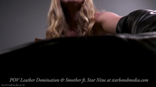 Leather Domination - Face Sitting Ass Smother POV HOM - Trailer