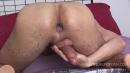 Horny latin boy plays with his tight hole