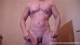 Pec Flexing, Posing and Hot Masturbation - Muscle Girl ANOUK