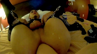 Sissy Boy strapped down Destroys hole with Fuck Machine