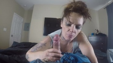 Getting the cock sucked and swallowed
