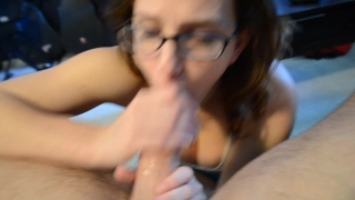(WOW) slutty milf sucks and gets fucked  big ass homemade stud glasses reverse cowgirl mom thick curvy abs butt mother muscle big boobs natural tits bubble butt