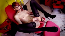 Masturbating & Cumming while Ball-gagged