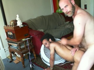 Hot Bareback Big Dick Daddy Fucks Hot Interracial Otter