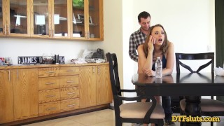 CHANEL PRESTON FUCKED IN DOGGYSTYLE WHILE MAKING A PHONE CALL Blowjob fisting