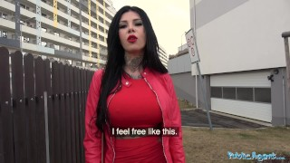 Tits fucked public and big agent tattoos outside publicagent reverse