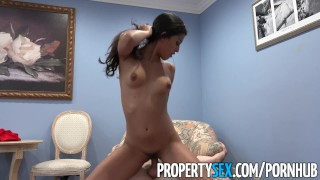 PropertySex - Hot Latina real estate agent thanks client with sex Loud blonde