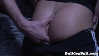 Dom uk cocksucker by horny pounded punk bulldogspit