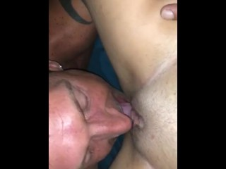 Eating that young pussy