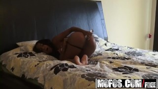 MOFOS - Ebony gf Tila Flame can not wait to do anal