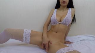 Hot girl in bride lingerie fucks herself until orgasm - Mini Diva