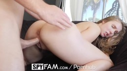 SPYFAM Stepsis Lena Paul Persuades Stepbrother Into Titty Fuck