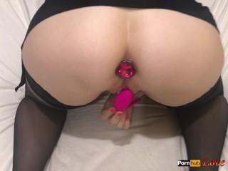 Girl mastrubating by lovense until orgasm...