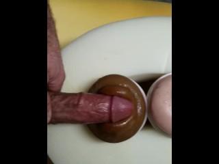 Double Fleshlights Cum on both