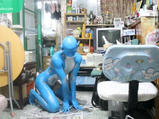 Digitmon Veemon Boy / Body Paint / 19 Years Old Extreme Fetish Cosplay #1