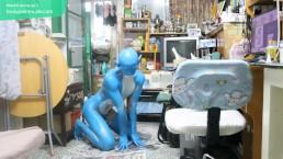 Digitmon Veemon Boy / Body Paint / 19 Years Old Extreme Fetish Cosplay #1