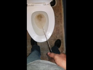 Just feeling naughty and taking a piss