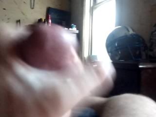 White cock cumshot