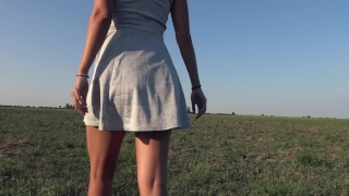 Peeing k teasing outdoor panty while ass with panties grey pee my big in panty panty