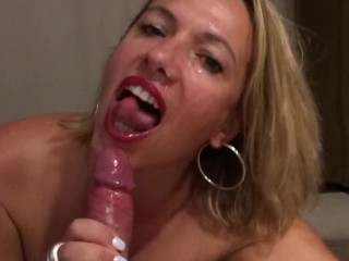 My slut ex gf tells me to cum in her mouth before her husband comes home...