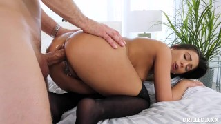 Strips asshole her summers for off lingerie jaye spreads and her cock butt small