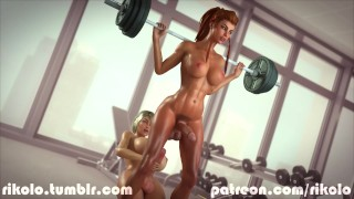 Brigitte fun rikolo's gym and in have sarah rough big