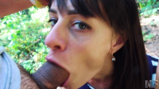Public sex in a parc,she loves deepthroat and anal sex.