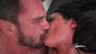 Manuel Ferrara fucks Kissa Sins with oil INTENSE Close blowjobs
