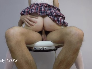 He came in less than 2 minutes - Schoolgirl quickie - Lady WOW