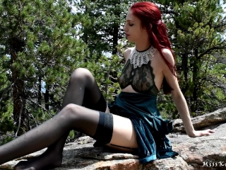 Elf Princess 2 - horny Princess gets a creampie in the woods ft Bad Dragon