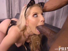 HORNY CAT GIRL ASHLEY FIRES IS HUNGRY FOR PRINCE'S BIG BLACK COCK
