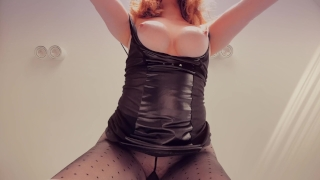 Ripped Pantyhose Big Tits Ginger Redhead Teen PAWG Creampie Doggystyle Big tits