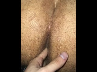getting my hairy wet ass fingered