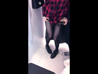 Cute schoolgirl does public blowjob in fitting room - amateur teen Reislin