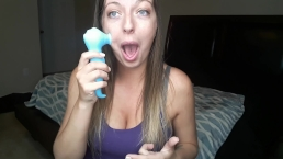 Testing Toys - Vibrating Dildo and Clitoral Sucking Vibrator