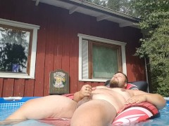 Gay Bear Pool Masturbation