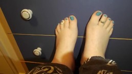 Blue Toes And Toe Rings