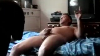 Homosexual receives handjob and blowjob from amateur pervert Anal cumshot