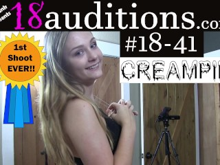 18 41 full scene real amateur teen trys...