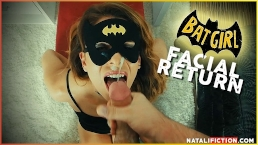 Facial SuperHero Chap. 1 - BatGirl or CatWoman? Cum on her face